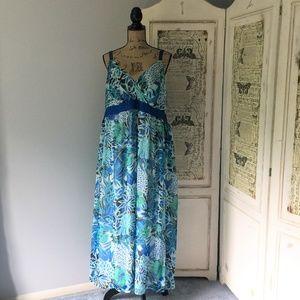 Mlle Gabrielle Chiffon Dress Sz 3X
